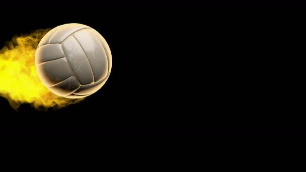 Hořící míč volejbal
