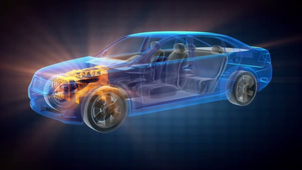 transparentní auto koncept