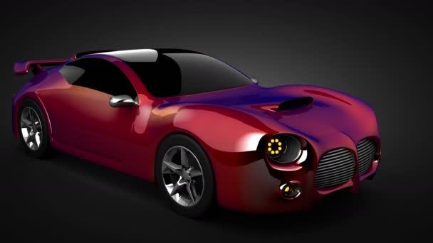 loop rotate luxury brandless sport car