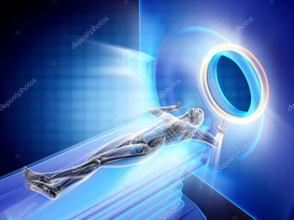 examinación de MRI de huesos humanos — Foto de stock © videodoctor ...