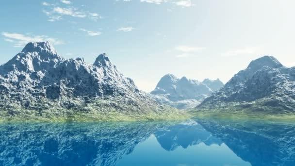 horské jezero v Alpách