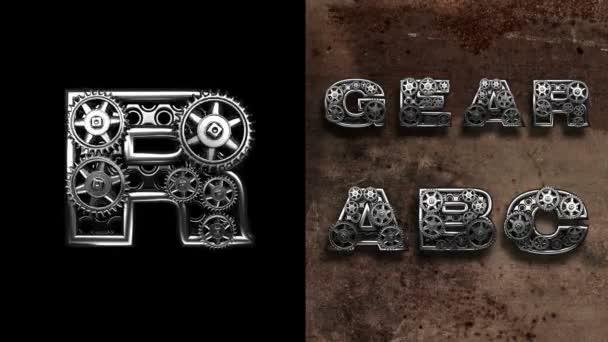 mechanické abeceda s otáčení kola. Alfa, matné