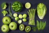 Fotografie Zelený healphy zelenina a ovoce