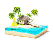 Photo tropical island