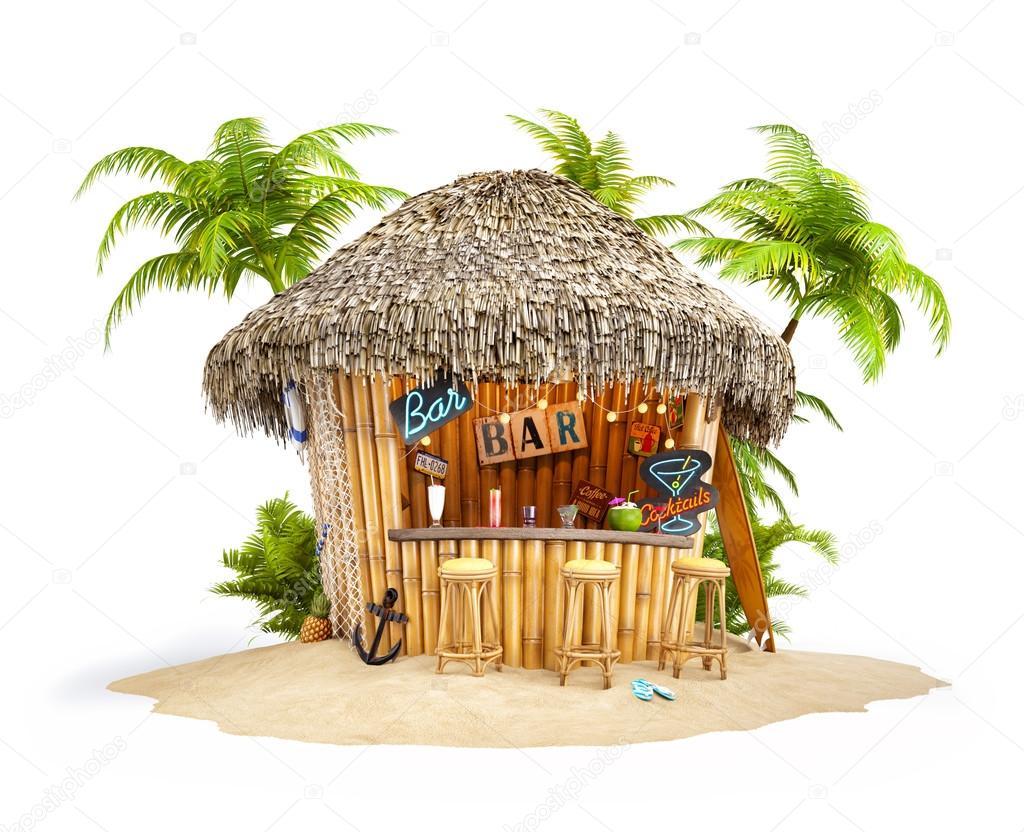 Tropischen Bambus Bar Stockfoto Vadmary 78328010
