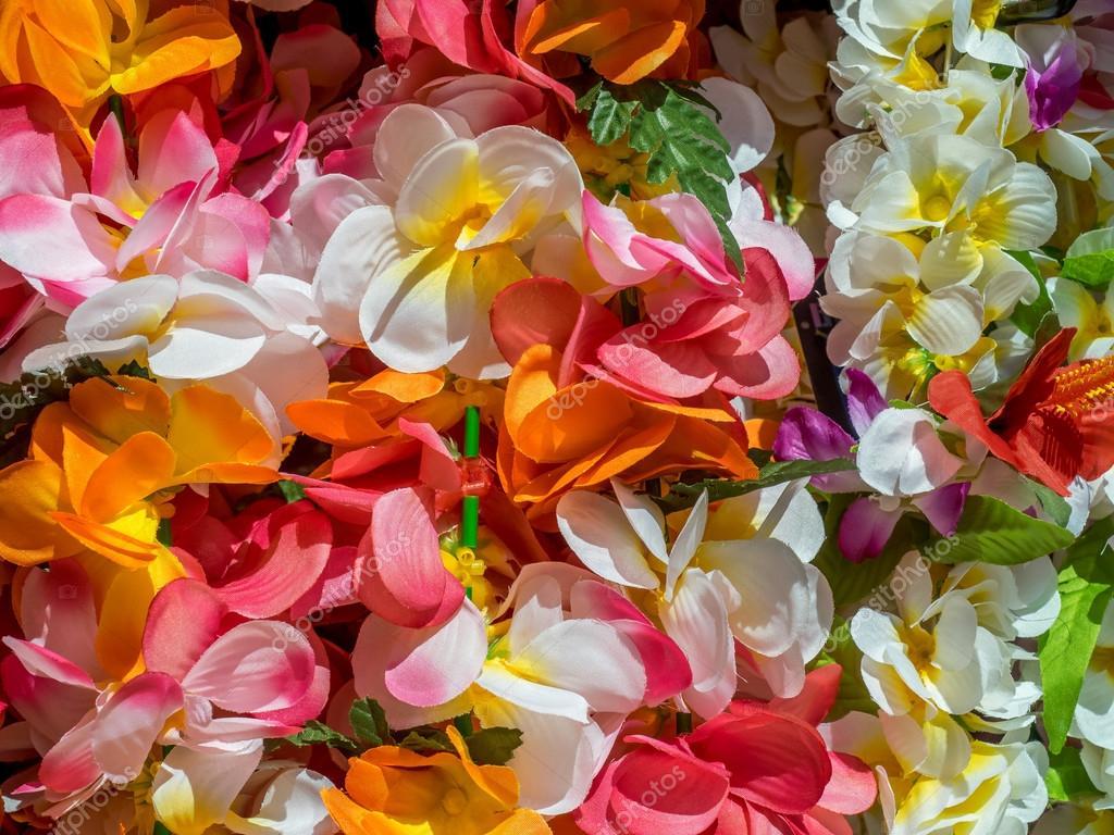 Colorful hawaiian lei flowers stock photo jewhyte 119896448 colorful hawaiian lei flowers in hawaii photo by jewhyte izmirmasajfo