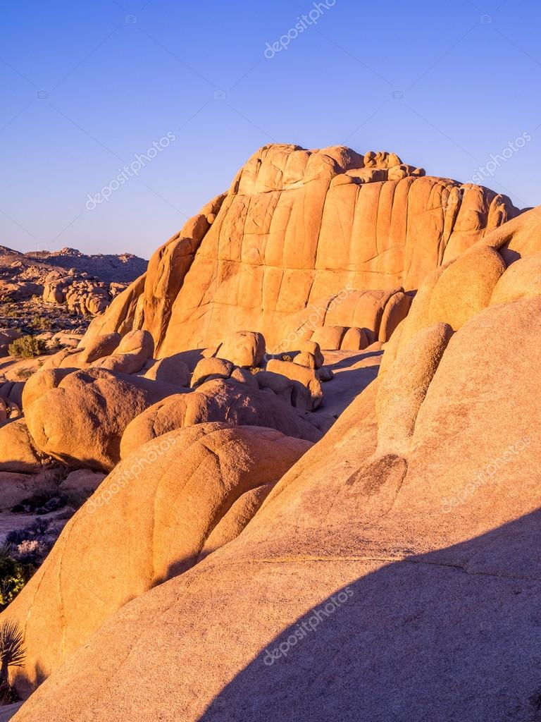 Jumbo Rocks at sunset  in Joshua Tree National Park