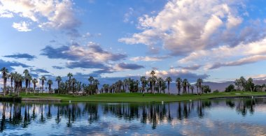 Golf course sunrise, Palm Desert California