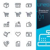 Lineo - nakupování a E-commerce ikony osnovy