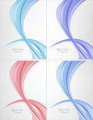 Abstraktní design. Transparentní sada vlna vektor