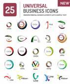 Kolekce abstraktní společnosti logo design konceptů