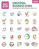 Logo kolekce, sadu ikon abstraktní geometrická podnikání