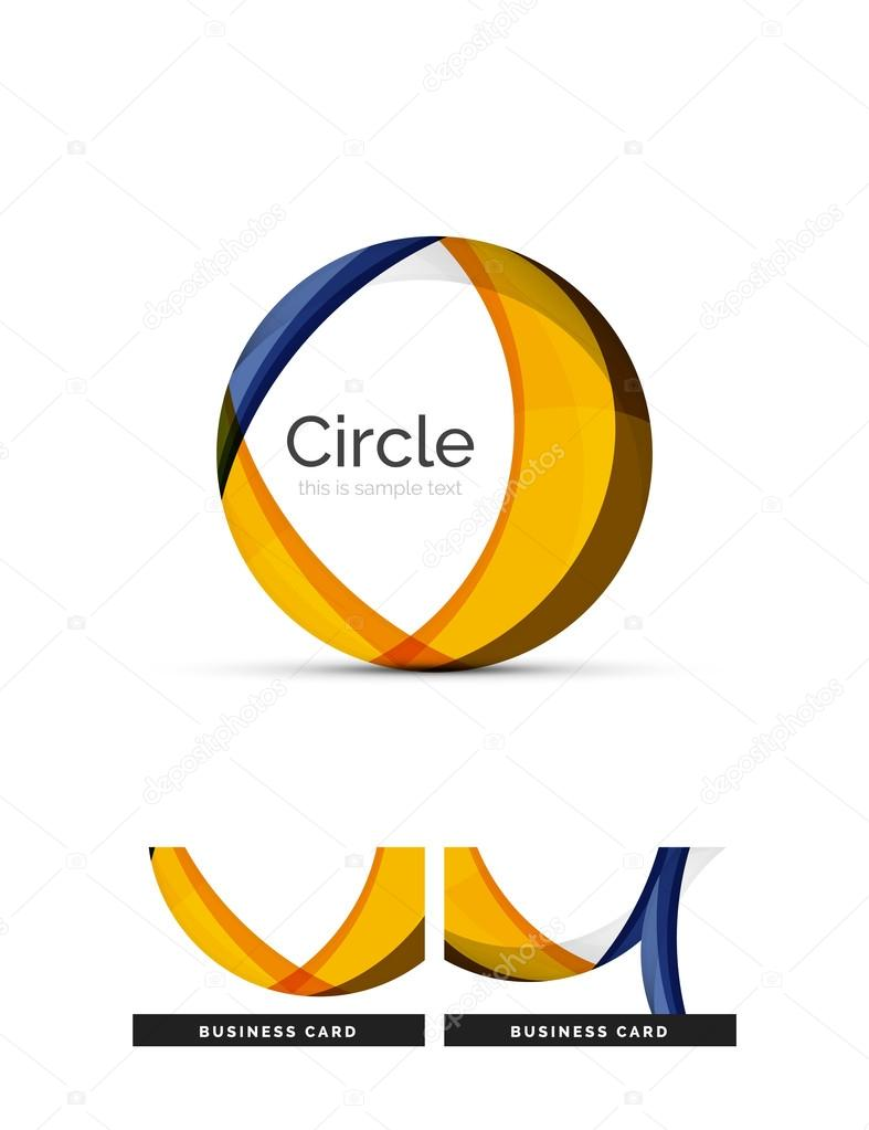 how to make a circle logo