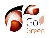 Barevné listí logo. Geometrická abstraktní ikona. Příroda nebo eco koncepce
