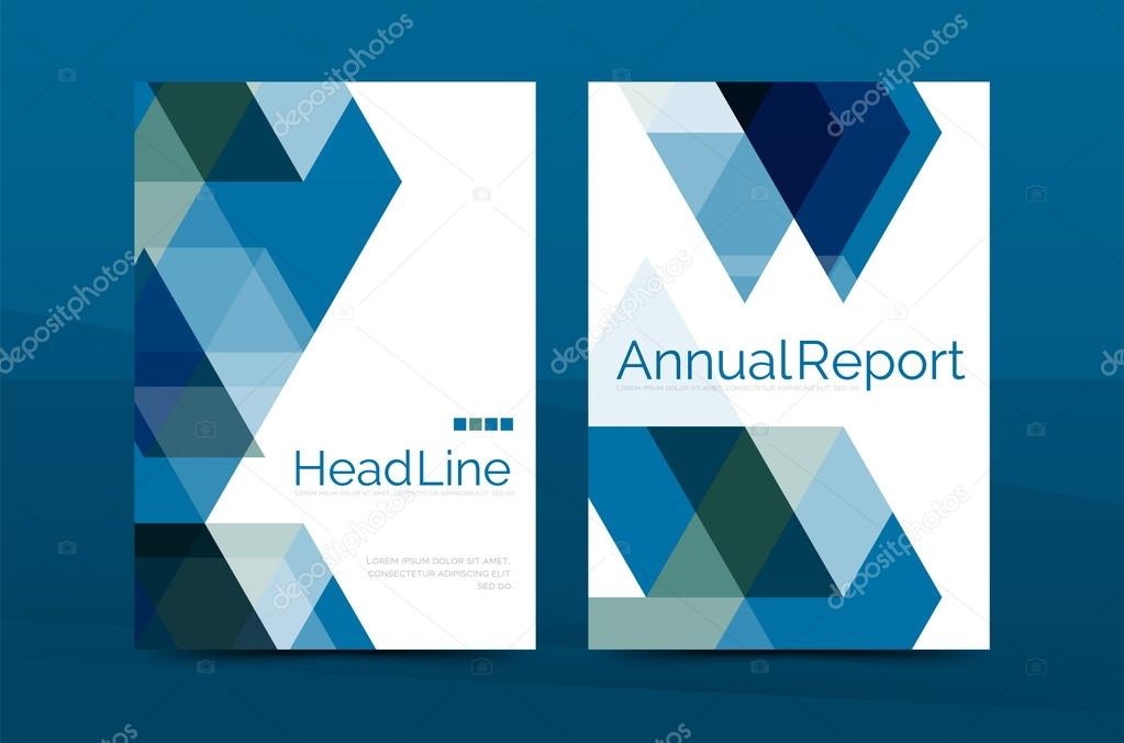 Geometrische a4 Titelseite, jährlichen Geschäftsbericht drucken ...