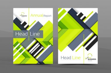 Colorful annual report cover