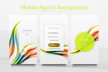Mobile application interface background design