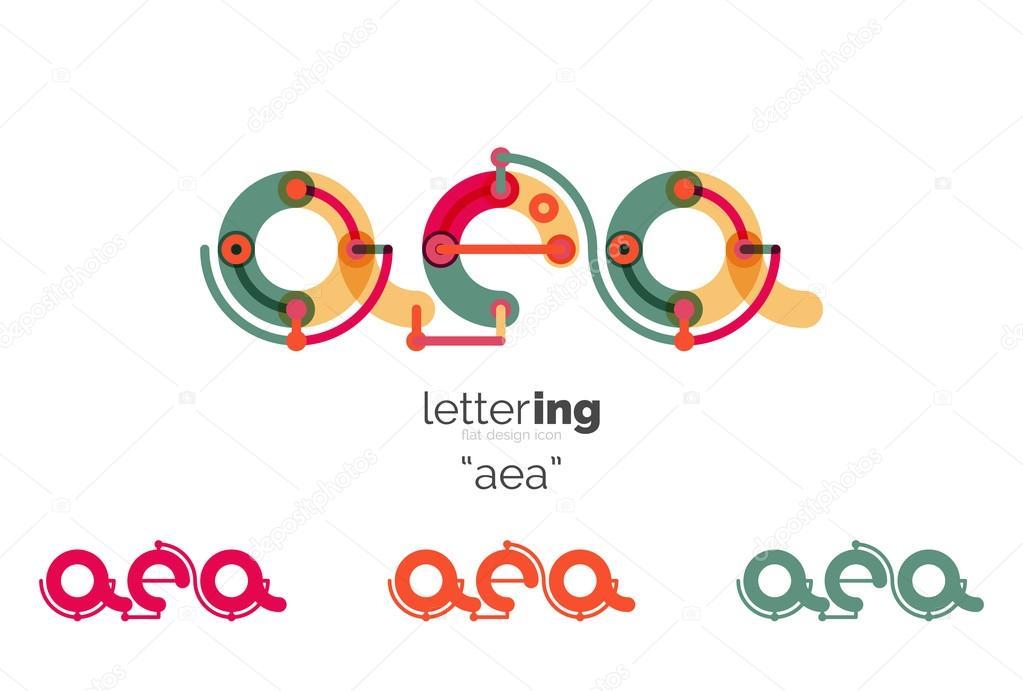 Buchstaben-Logo-Symbol — Stockvektor © akomov #116675884