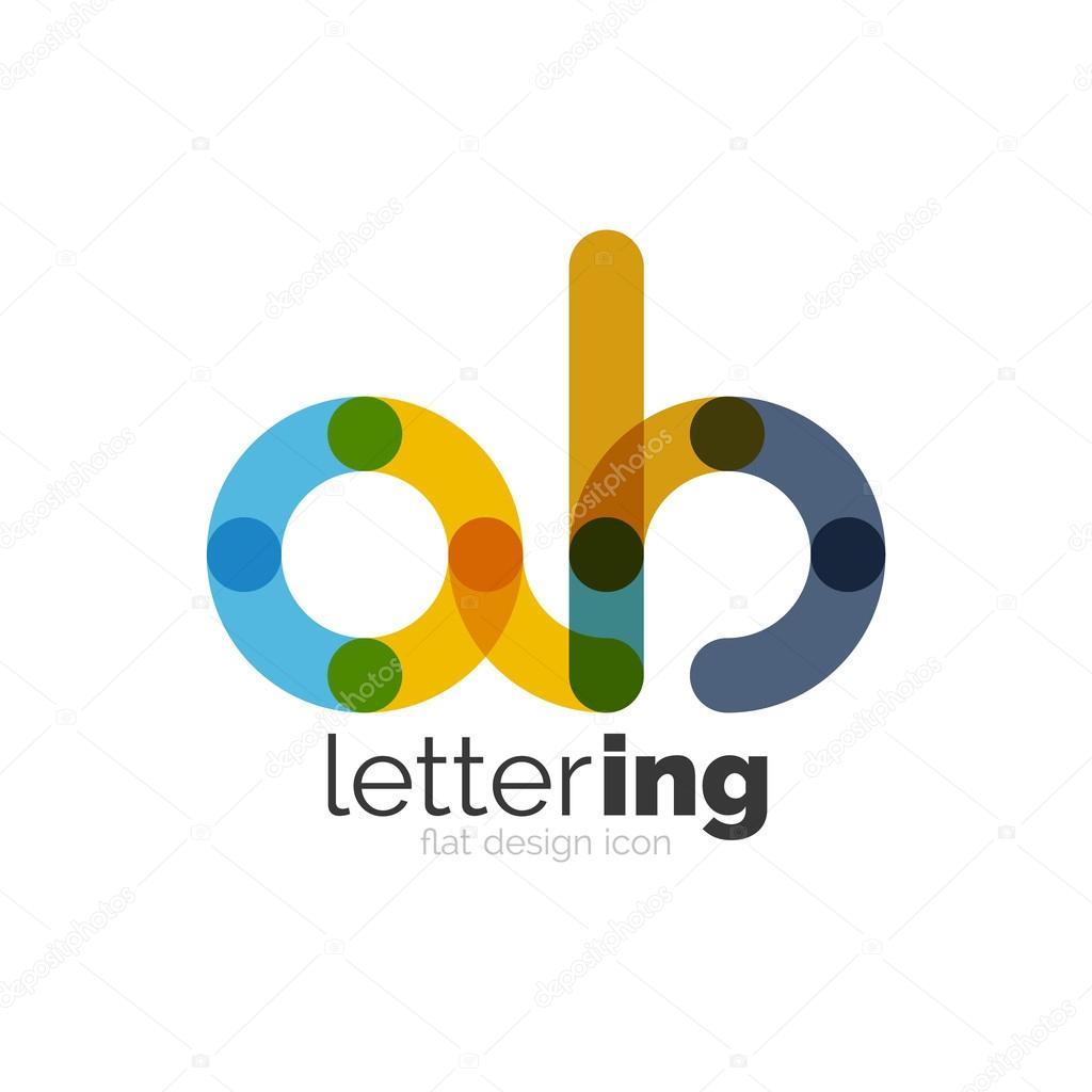 Brief-Logo-Geschäft-Symbol — Stockvektor © akomov #116845928