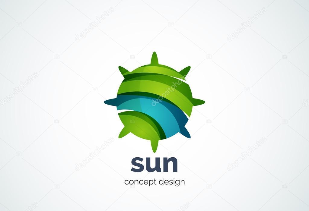 太陽ロゴのテンプレート シャイニング スター コンセプト ストック