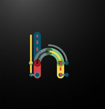 Company branding logo of initial letters