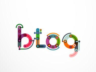 Blog word lettering banner