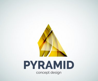 Pyramid logo business branding icon