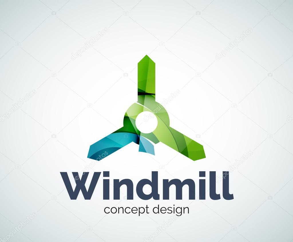 Plantilla de logotipo de molino de viento — Archivo Imágenes ...