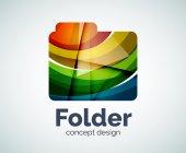 Počítač složky logo šablona