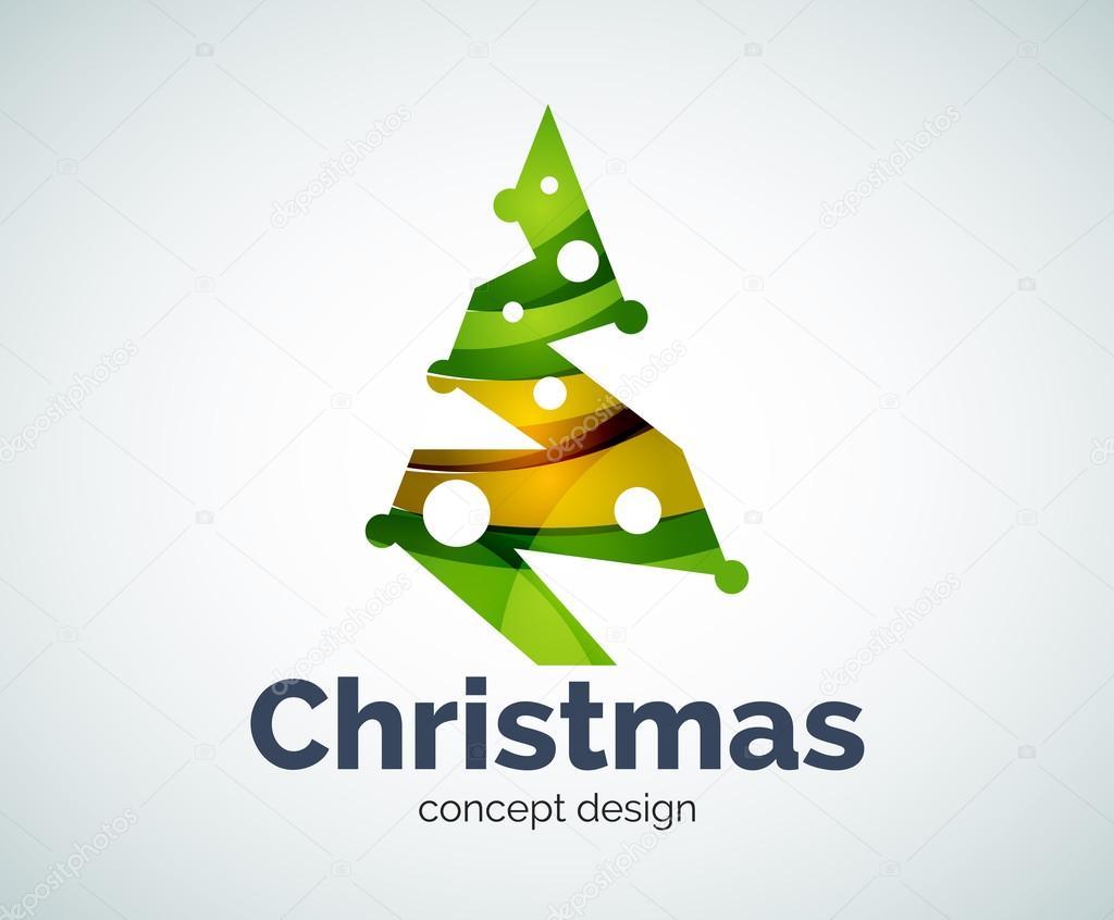 Vektor-Weihnachtsbaum-Logo-Vorlage — Stockvektor © akomov #120454998