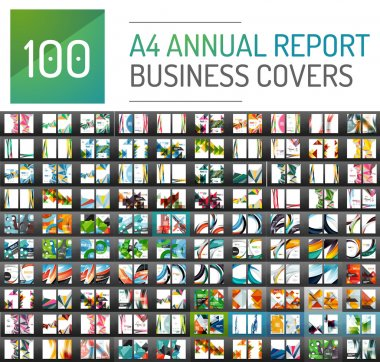Mega collection of 100 business annual report brochure templates