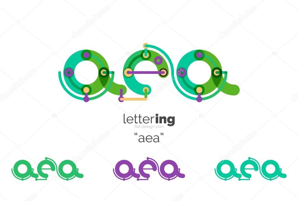 Buchstaben-Logo-Symbol — Stockvektor © akomov #121027138