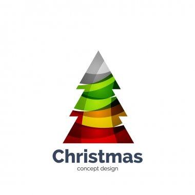 Vector abstract geometric Christmas tree icon