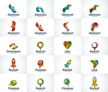 Vector set of abstract unusual internet logos