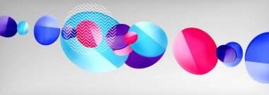 Abstract glossy round shapes vector background. Vector futuristic illustration for covers, banners, flyers and posters and other icon