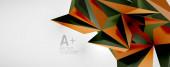 Geometrische Hintergründe des Vektordreiecks. Low-Poly 3D-Form auf hellem Hintergrund. Vektor-Illustration für Covers, Banner, Flyer, Poster und andere Designs