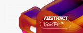 Vektor 3D-Pfeil geometrische Komposition, abstrakter Hintergrund für geschäftliche oder technologische Präsentation, Internet-Poster oder Web-Broschüre Cover, Tapete