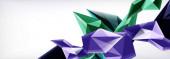 Vektor-3D-Dreiecke und Pyramiden abstrakter Hintergrund für Unternehmens- oder Technologiepräsentationen, Internet-Poster oder Web-Broschüren-Cover