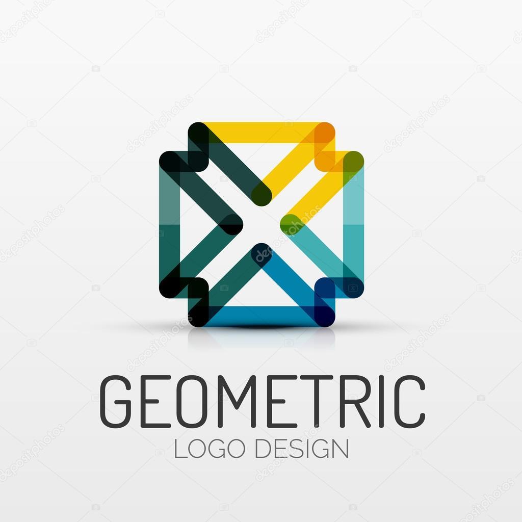 Fabuleux logo de société de forme géométrique abstrait — Image vectorielle #GY_23