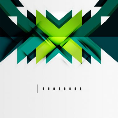 Futuristic blue and green color shapes