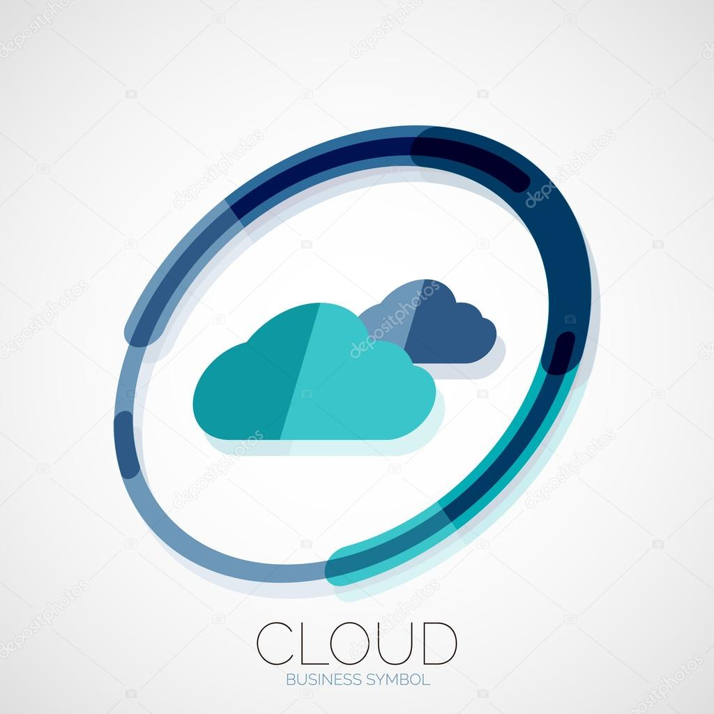 Cloud Storage Company Logo Business Symbol Concept Minimal Line Style Vector By Akomov