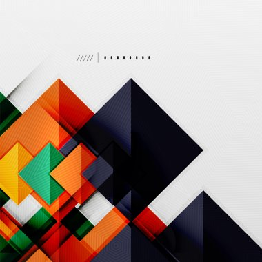 Geometric squares and rhombus futuristic template