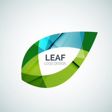 Leaf logo, concept, branding logotype design stock vector