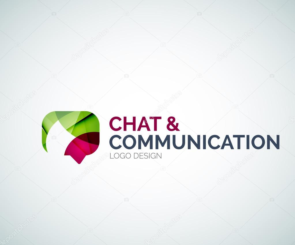 Chat and communication logo design