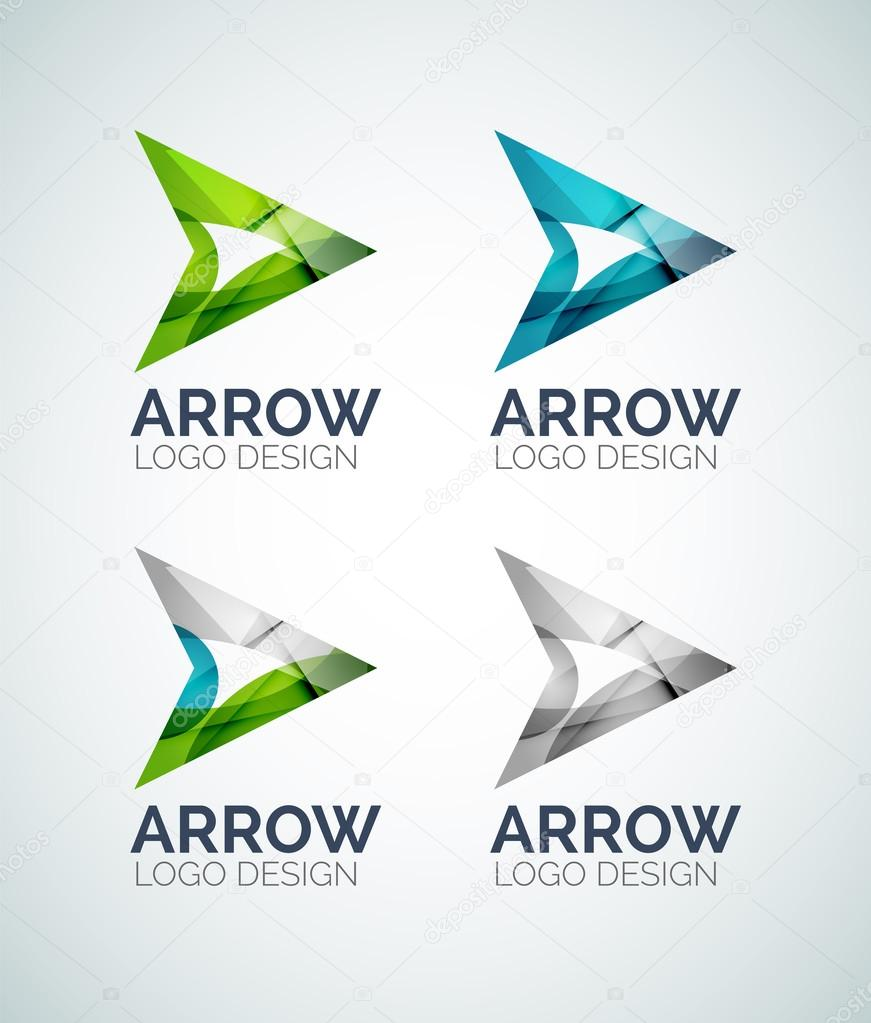 arrow logo design made of color pieces stock vector akomov 53303111