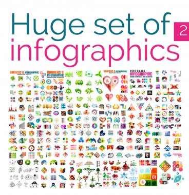 Huge mega set of infographic templates