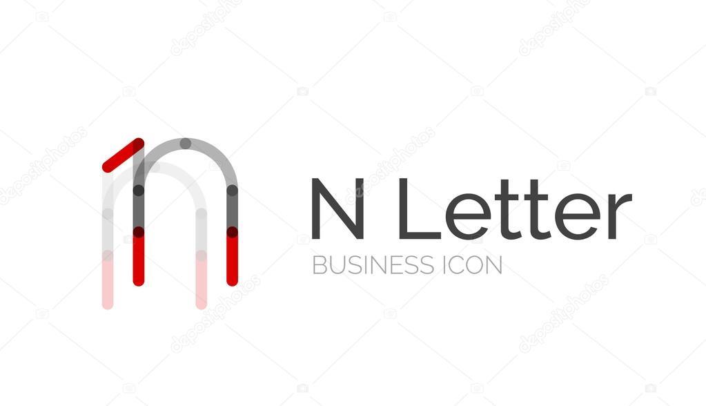 Minimal Font Or Letter Logo Design Stock Vector C Akomov 55070055