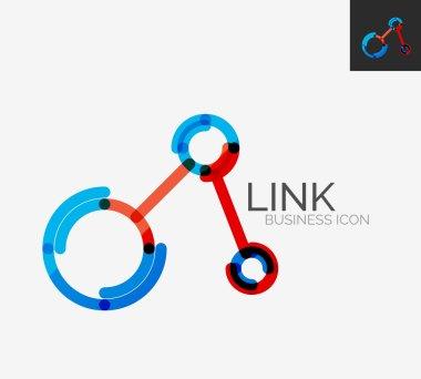 Minimal line design logo, connection icon