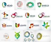 Abstraktní společnost logo vektorové kolekce