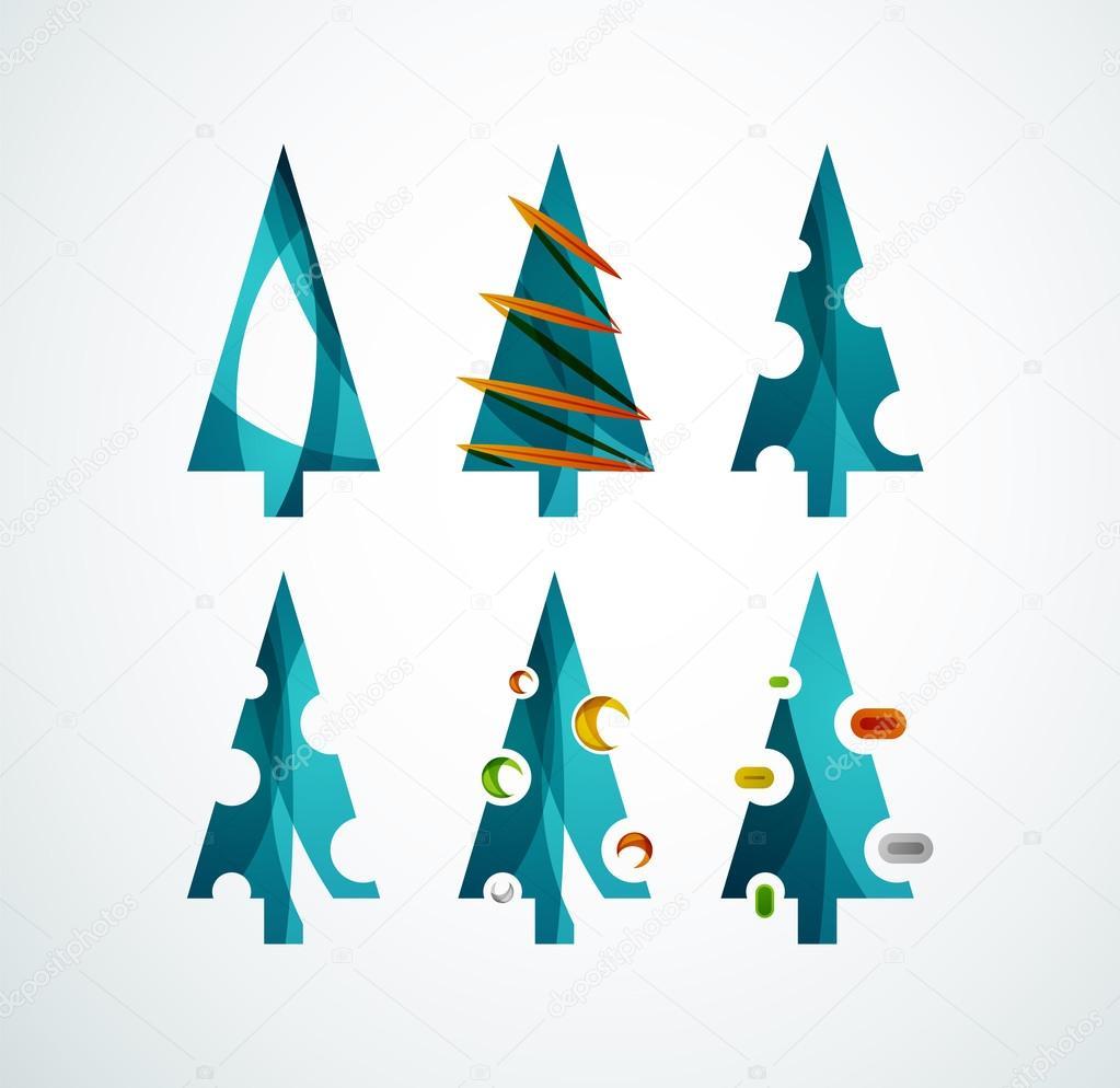 Disegni Di Natale Vettoriali.Disegni Geometrici Di Natale Albero Di Natale Disegno